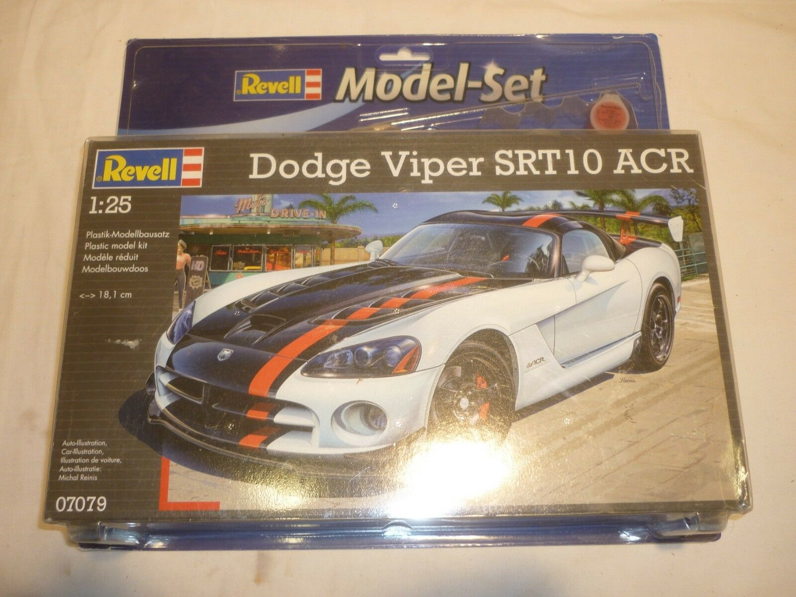 A sealed Revell un-built plastic kit of a Dodge viper SRT 10 ACR,  boxed
