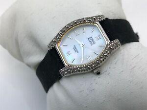 Anne-Klein-Swiss-Diamond-Women-Watch-Analog-Crystal-Accents-Wrist-Watch