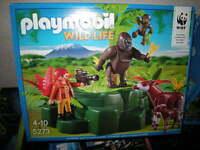 Playmobil Wild Life WWF Zoologin bei Okapis und Gorillas 4-10 Jahre Nr. 5273 OVP