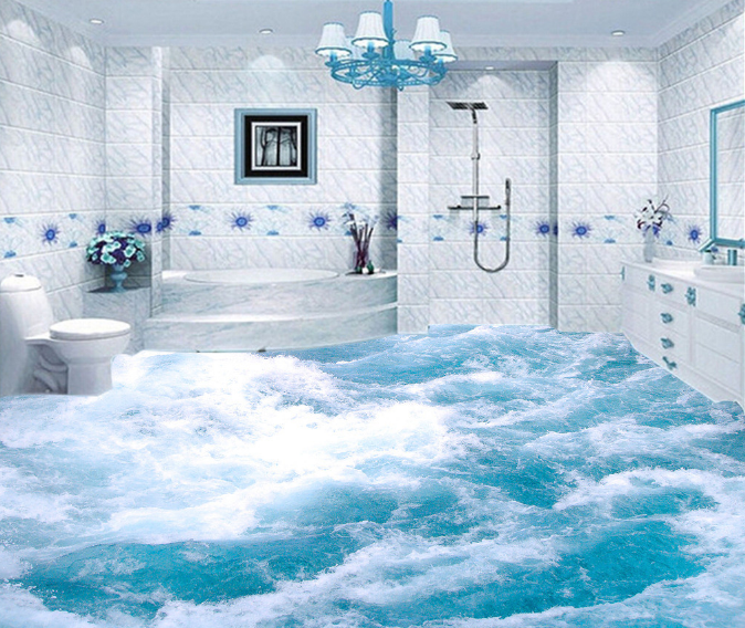 3D Surge Sea Water 5 Floor WallPaper Murals Wall Print Decal AJ WALLPAPER Summer