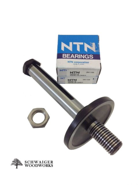Arbor for Delta Right Tilt Unisaw With Spacers Pulley Nut Bearing & Keyway