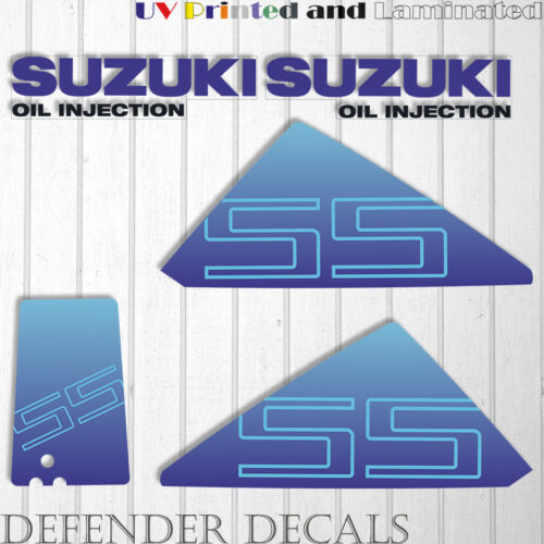Suzuki 55 hp DT55 outboard engine decal sticker set kit reproduction 55HP