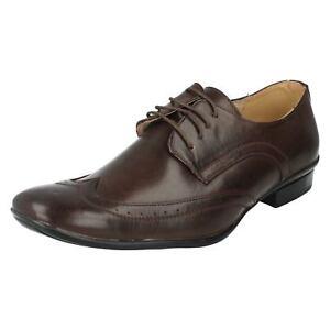 Halbschuhe Ausverkauf Herren A2076 Braun Synthetisch Schnürer Schuhe Von Maverick War Jetzt
