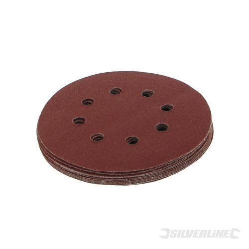 10 disques perforées auto-agrippantes 125 mm Grain 120 GR120