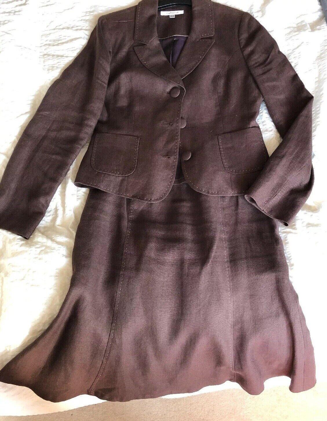 LK Bennett Ladies Linen Suit Size 12