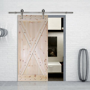 Details About 6ft Stainless Steel Sliding Hardware Set W Unfinished Interior Diy Barn Door