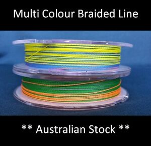 Clearance-PE-Braid-Fishing-Line-300m-Reel-Spectra-Dyneema-Multi-Colour