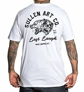 468bac18 Sullen Clothing Art Co Last Laugh White Tattoo Adult Mens T Tee ...