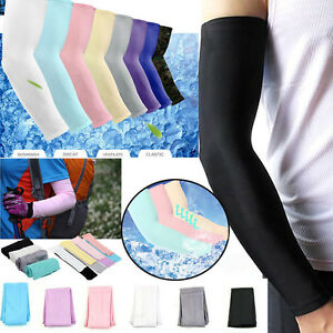 New-Cooling-Arm-Sleeves-Cover-UV-Sun-Protection-Basketball-Golf-Athletic-Sport