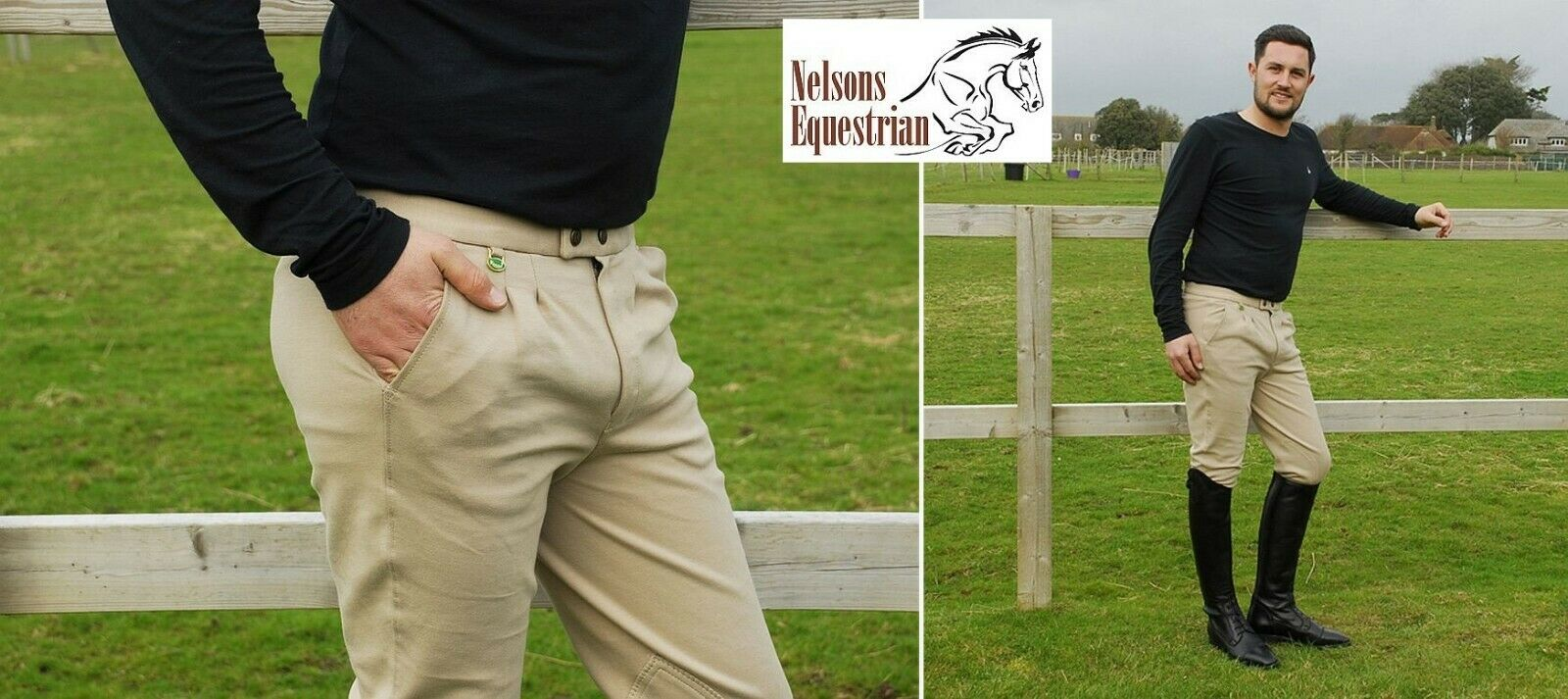 Rhinegold Mens Essential Breeches Traditional For Horse Riding Hunting Showing
