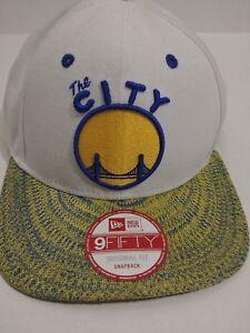 New Nba Golden State Warriors New Era The City 9Fifty Original Fit Snapback Hat
