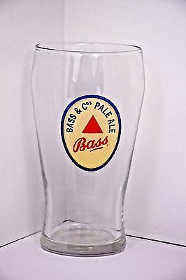 Bass /& Cos Pale Ale Pint 16 oz 0.50l Applied Label 6.25 in Clear Beer Glass