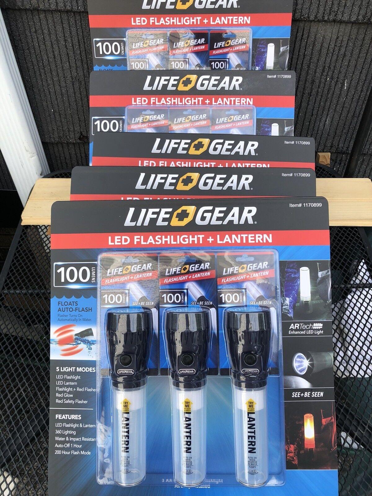 5X 3PK New Life Gear Linterna Led + Linterna 100 lumens agua y resistente al impacto