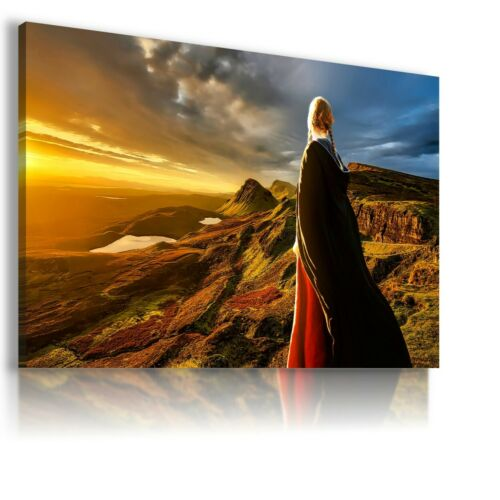 FANTASY WORLD MOUNTAINS WOMAN SUNRISE Canvas Wall Art F295 MATAGA