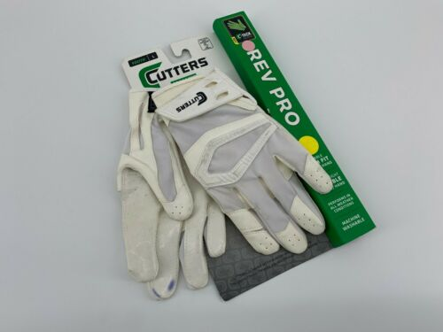 Cutters Gloves Youth L REV Pro Receiver Glove White #603G