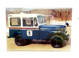 vintage us post office jeep usps fridge magnet 2 x 3 art nostalgic ebay. Black Bedroom Furniture Sets. Home Design Ideas