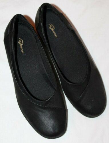 Details about  /i Love Comfort Women/'s Casey Black Flat Comfort Shoes Size 6.5,9 or 11 Medium