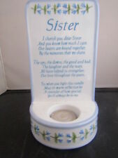 Sister Candle Plaque