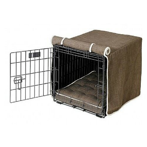 Bowsers Pet Products DRIFTWOOD DRIFTWOOD DRIFTWOOD Microlinen Luxury Dog Crate Cover  — XXL 191135