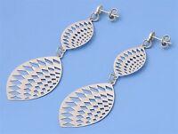 Silver Italian Earrings Height 61 Mm Modern Fashion Women's Jewelry Shiny