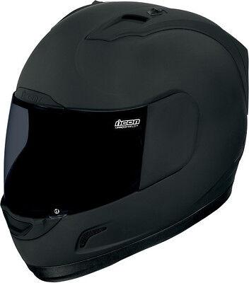 Icon alliance dark black motorcycle full face street helmet clear & smoke shield