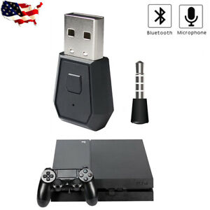 Wireless Mini Bluetooth Headset Usb Dongle Receiver Adapter For Ps4 Slim Pro Pc Ebay