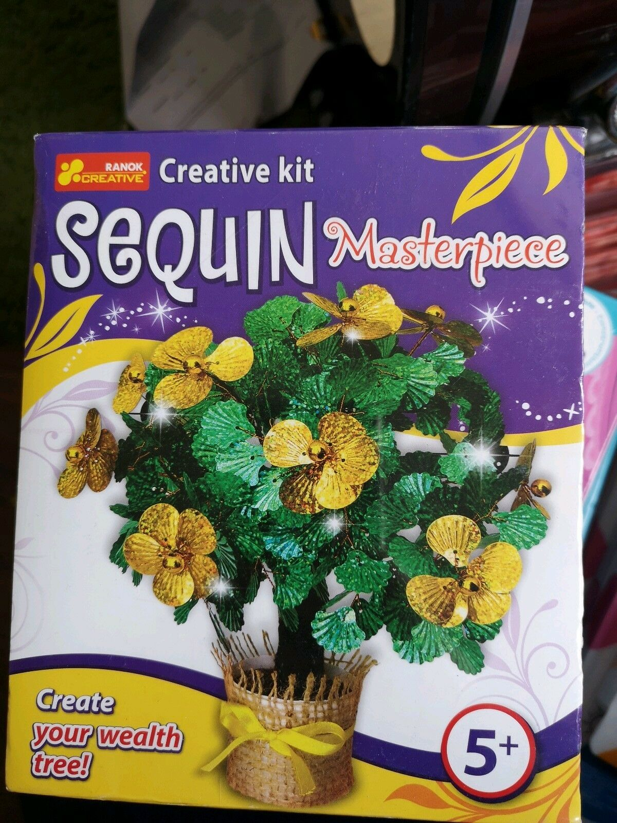 Ranok create your own  wealth tree Sequin Masterpiece, 15 x 18 x 8 cm