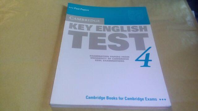 Cambridge Key English Test 4 Student's Book by Cambridge ESOL 9780521670814