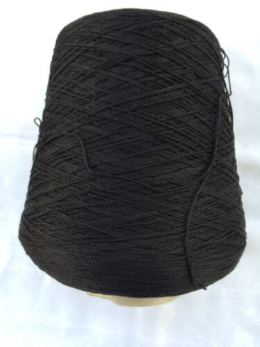 Weight of one con is 1lb 15oz SUNRAY YARN 100/% Cotton Color Black