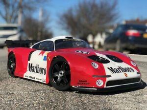 7503-Carrozzeria Body Porsche GT2 1/8 Scala 360mm RC car + alettone/SPOILER