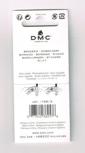 Aghi da ricamo  blister 16 aghi DMC misura varie 5-10  con la punta art.1765//3
