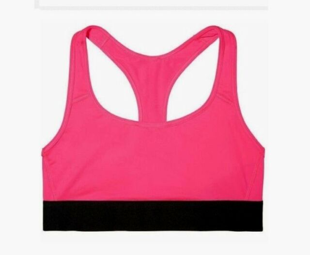 39bc6cc7bb8ed Victoria's Secret VSX The Player Racerback Sports Bra Small Pink Black