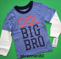 Big Bro Baby Boys Brother Shirt 18-24 Months 2t 3t 4t 5t 4 5 6 7 8 Gift
