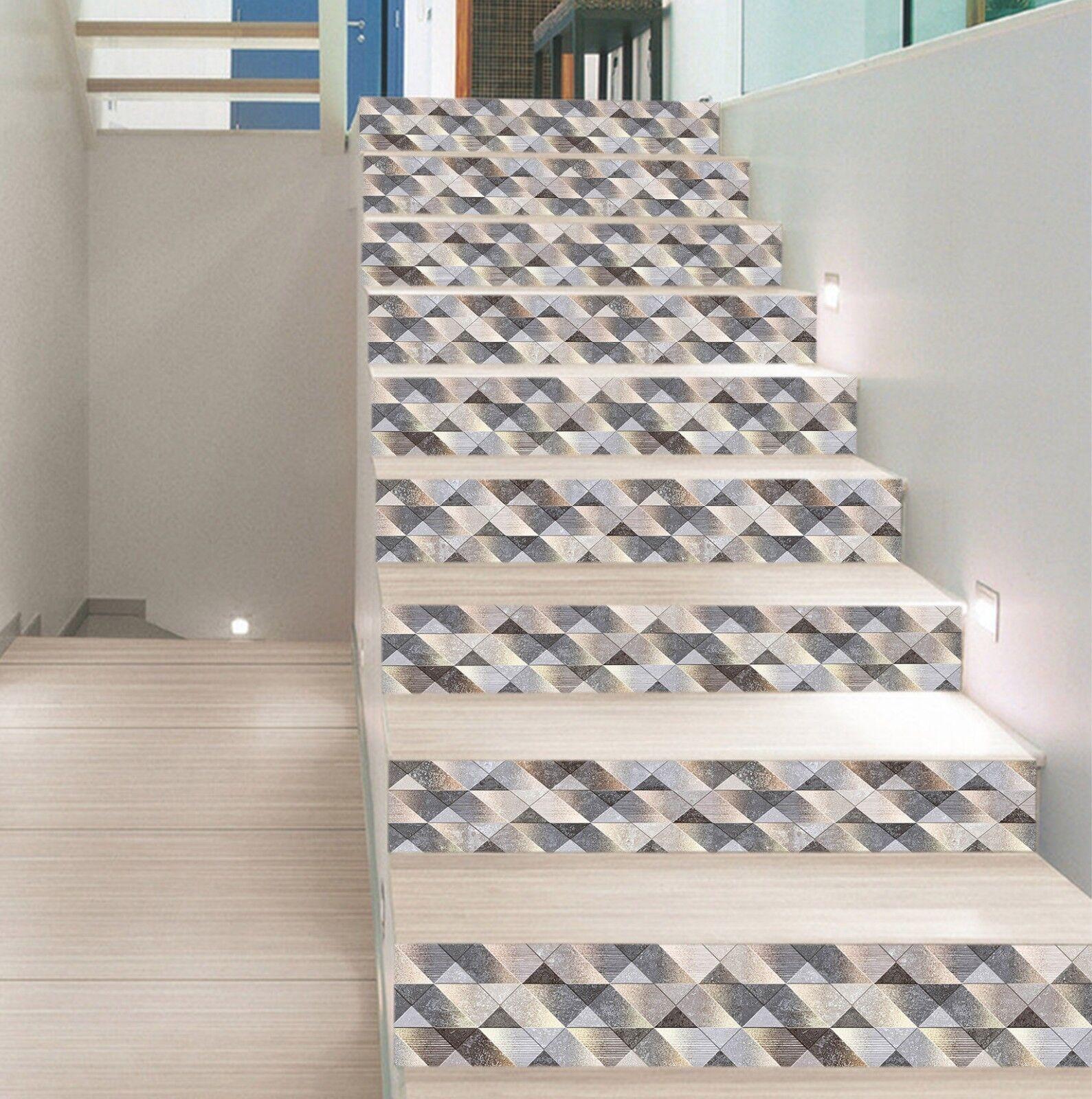 3D Paillette 7 Fliese Marmor Stair Risers Fototapete Vinyl Aufkleber Tapete