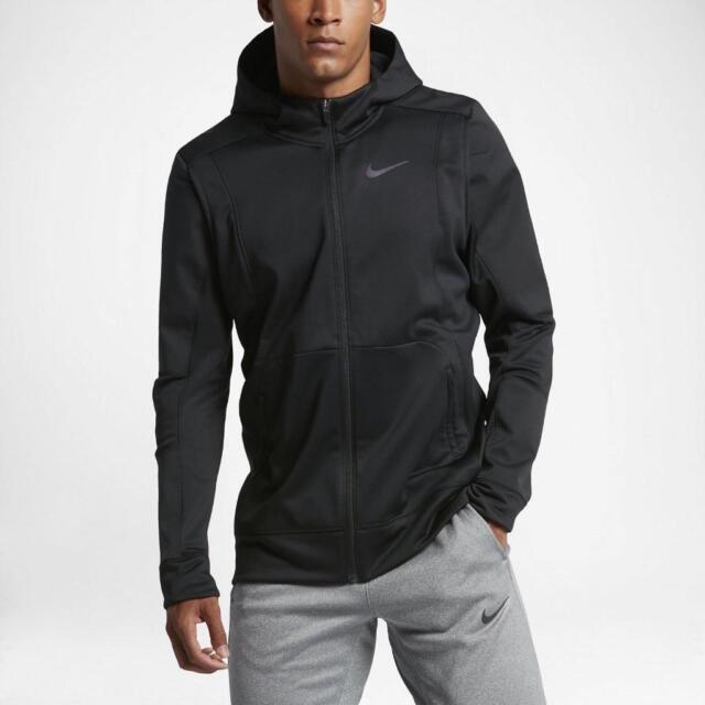 f2d33ec33112 Mens 2xl Nike Therma HYPER Elite Hoodie Jacket Basketball Black ...