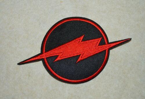 broder et thermocollant 12//7cm noir et rouge patch éclair,flash