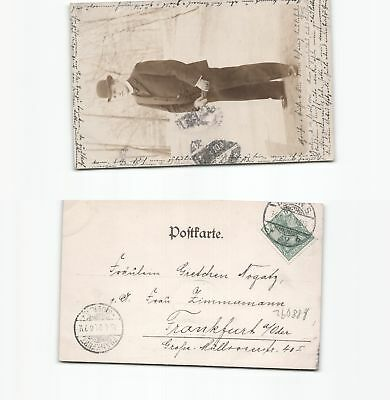 A QualitäT Und QuantitäT Gesichert b88092 Neue Mode Foto-ansichtskarte Wilke 1901 Von Berlin Nach Frankfurt Oder