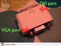 Apple Dvi To Vga Video Adapter For Mac Mini Macbook Pro 603-6438 922-6675