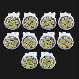 10PCS-T10-W5W-194-168-501-White-8-LED-Bulb-3020-SMD-Car-Wedge-Side-Light-Lamp