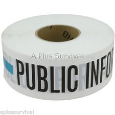 "3/"" x 1000/' Barricade Ribbon Tape Staging Area Green CERT FEMA First Responder"