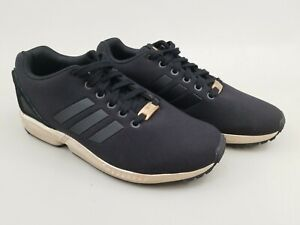 the latest 09862 7d224 Details about Adidas Torsion ZX FLUX Black And Gold w Rose Gold Logo Size 8  RARE