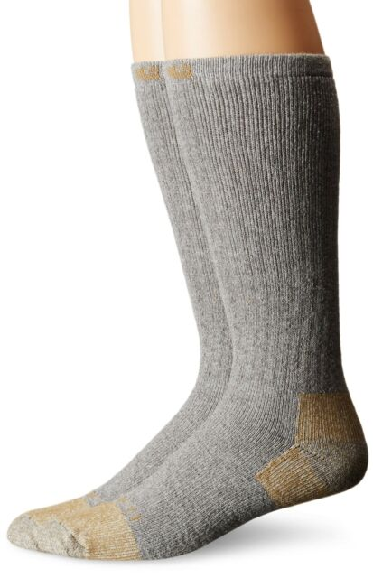 Carhartt Homme 2 Pack Full Coussin Steel-Toe haut vrac travail chaussettes Boot Shoe 6-12