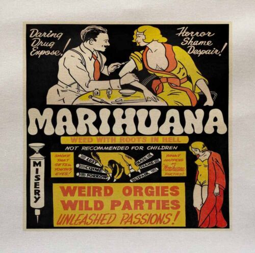 Vintage marijuana Printed Fabric Panel Make A Cushion Upholstery Craft