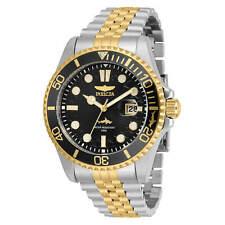 Invicta Men's Watch Pro Diver Quartz Black Dial Two Tone Bracelet 30618