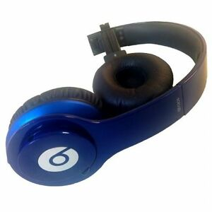 Beats By Dr Dre Solo On Ear Wired Headphones Dark Blue For Parts Ebay