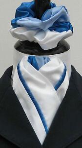 100% De Qualité Prêt Lié Bébé Blanc Bleu/royal En Soie Synthétique Dressage équitation Stock & Chouchou-afficher Le Titre D'origine
