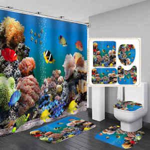 Sea C Reef Fish Shower Curtain Bath, Fish Bathroom Set