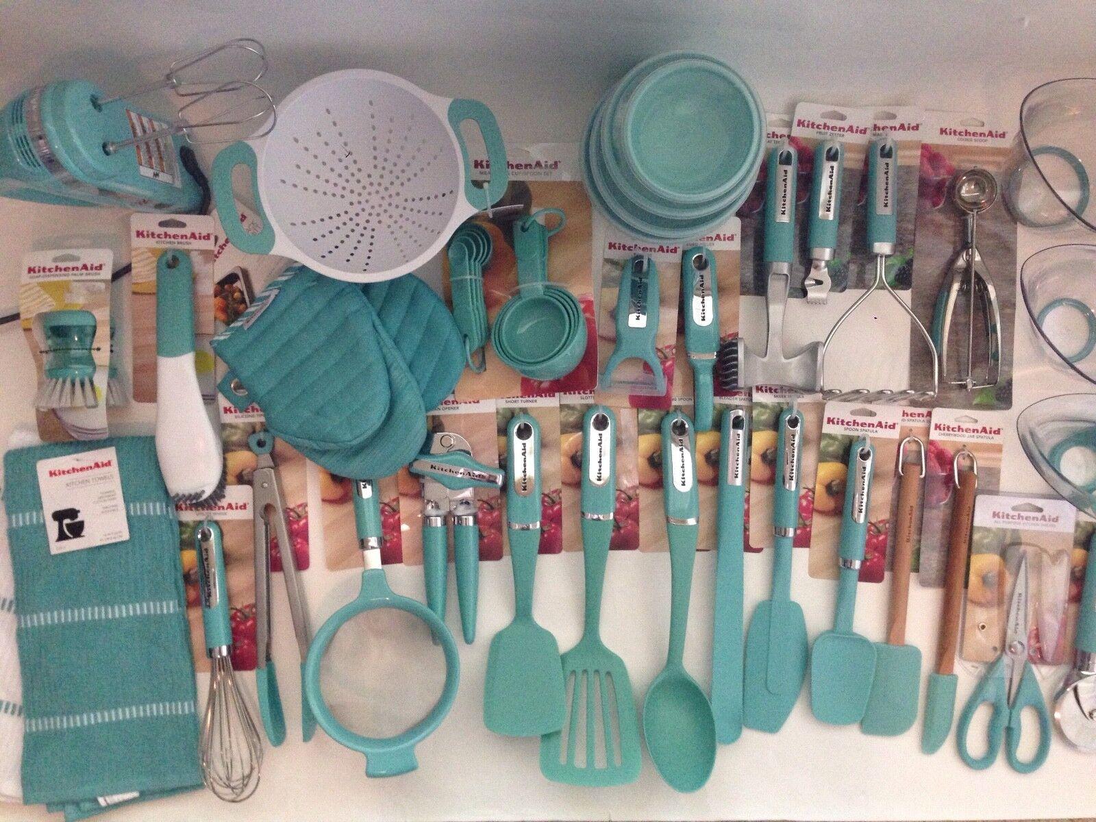 Nouveau Set de 50 Ustensiles KitchenAid Aqua Sky Cisaille Spatule (couleur  haqa)