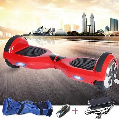 "6.5""Patín Eléctrico Patinete Scooter self balancing overboard bolso+mando"