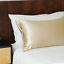 thumbnail 2 - 100% Mulberry Silk Pillowcase Both Side 22 Momme Champagne Gold Standard Size